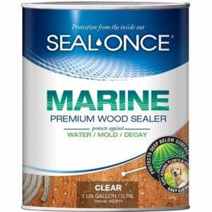 最好的甲板染色选项:密封 - 一旦海洋穿透木质封口机