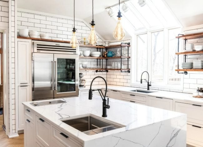 Swap in Faucets and Fixtures that Make a Statement for the Easiest Kitchen Renovation