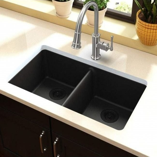 Embrace the Striking Contrast Between Darker Sinks and Brighter Counters