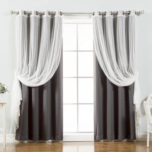 The Best Blackout Curtain Option: Best Home Fashion Tulle Sheer Lace Blackout Curtain