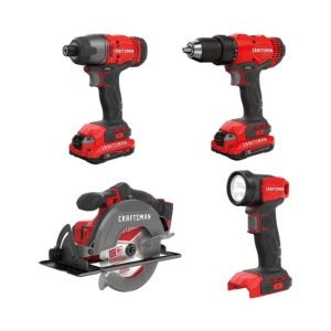 The Best Cordless Drill Option: CRAFTSMAN V20 Cordless Drill Combo Kit, 4 Tool