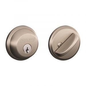 最佳门锁选择:Schlage b60n619单缸门栓