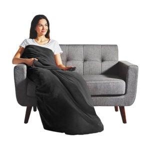 The Best Electric Blanket Option: Sunbeam Dual Pocket Microplush Heated Throw Blanket