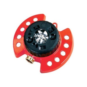 The Best Lawn Sprinkler Option: Dramm 9-Pattern Turret Sprinkler