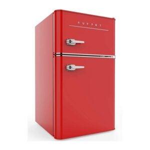 最佳迷你冰箱选择:KUPPET复古迷你冰箱双门紧密型