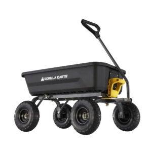 The Best Wheelbarrow Option: Gorilla Carts 4-cu ft Poly Yard Cart