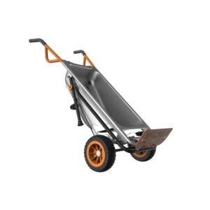 The Best Wheelbarrow Option: WORX WG050 Aerocart 8-in-1 2-Wheel Wheelbarrow
