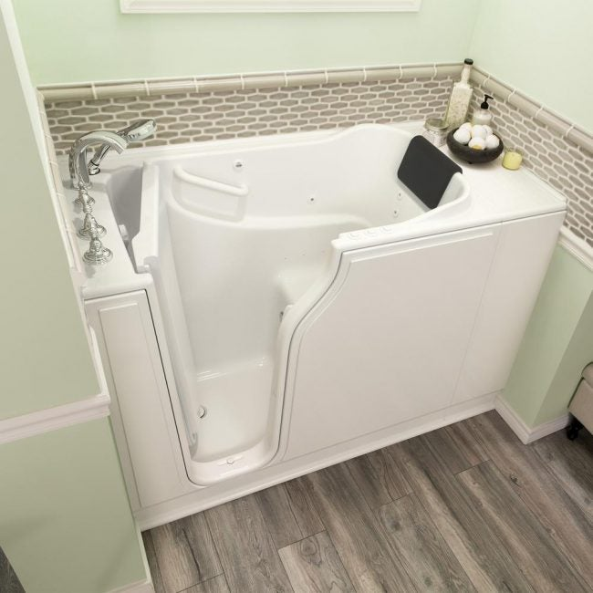 The Average Bathtub Size for a Walk-in Tub