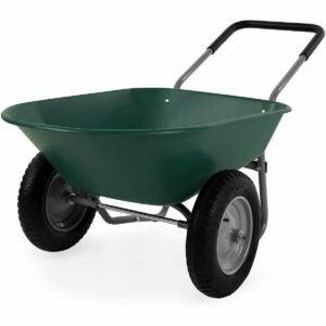 The Best Sheelbarrow Option: Best Choice Products Dual-Wheel Wheelbarrow