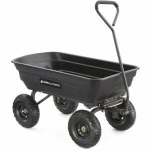 The Best Sheelbarrow Option: Gorilla Carts GOR4PS Poly Garden Dump Cart