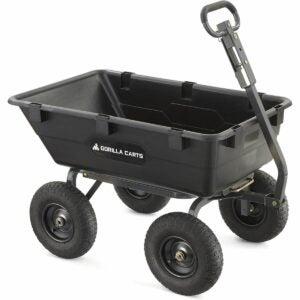 The Best Sheelbarrow Option: Gorilla Carts Heavy-Duty Poly Yard Dump Cart