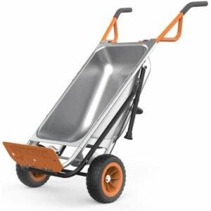 The Best Sheelbarrow Option: WORX WG050 Aerocart 8-in-1 2-Wheel Wheelbarrow