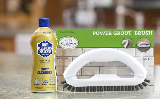 The Best Grout Cleaner Option: Bar Keepers Friend Soft Cleanser Liquid