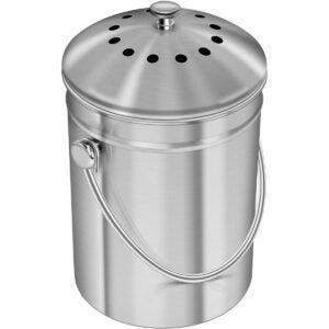 The Best Compost Bins Option: Utopia Kitchen Stainless Steel Compost Bin