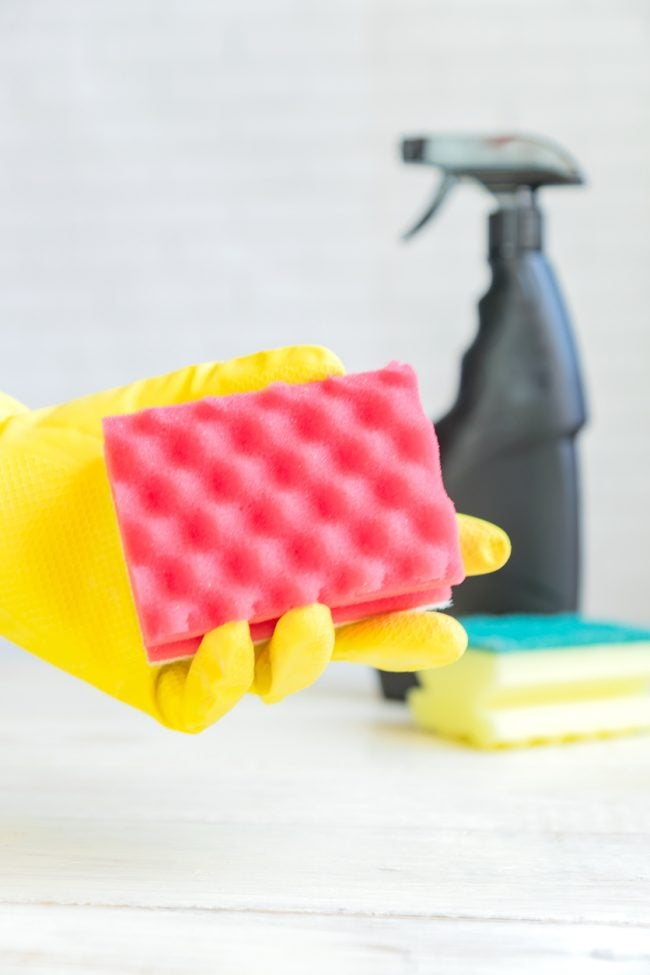 Sponge, Don't Spray, When Disinfecting with Bleach