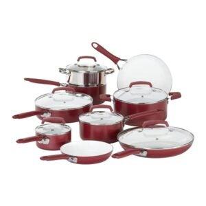 最好的非克酷炊具选项:穿15件陶瓷非克里克炊具套装