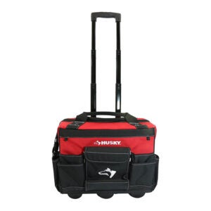 The Best Tool Bag Option: Husky 18-Inch Zipper Top Rolling Tool Tote Bag