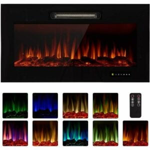 """The Best Electric Fireplace Option: Homedex 36"""" Recessed Electric Fireplace Insert"""
