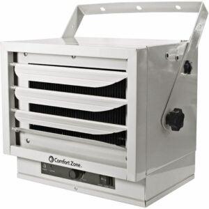 The Best Garage Heater Option: Comfort Zone CZ220 5,000W, Fan-Forced Ceiling Heater
