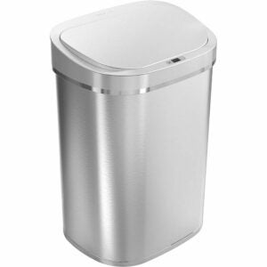 The Best Kitchen Trash Can Option: Ninestars DZT-80-35 Automatic Touchless Sensor Can