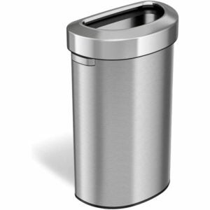 The Best Kitchen Trash Can Option: iTouchless 23 Gallon Semi-Round Open Top Trash Can