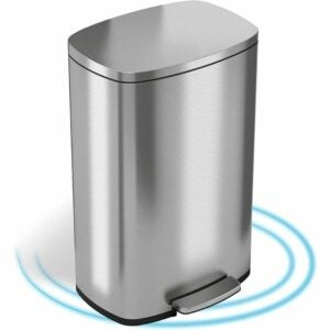 The Best Kitchen Trash Can Option: iTouchless SoftStep 13.2 Gallon Trash Can