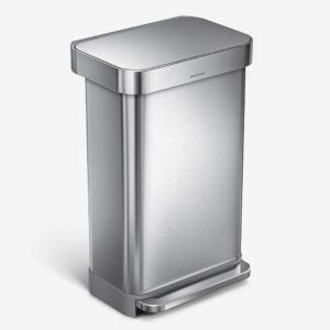 The Best Kitchen Trash Can Option: simplehuman 45 Liter Rectangular Trash can