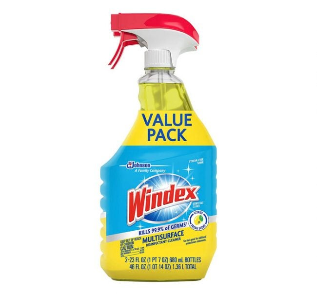 The Best Disinfectant Sprays, Cleaners, and Wipes Option: Windex Disinfectant Multi-Surface Cleaner