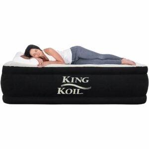 The Best Air Mattress Option: King Koil Air Mattress with Built-in Pump Quilt Top