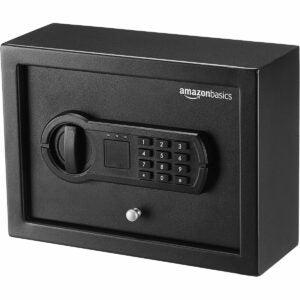 The Best Home Safe Option: Amazon Basics Slim Desk Drawer Security Safe