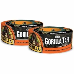 最好的鸭子胶带选择:大猩猩黑色管道胶带
