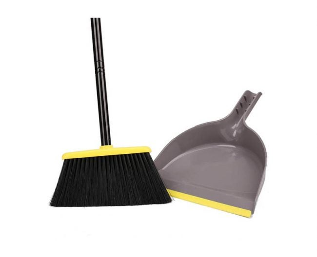 The Best Broom Option: TreeLen Angle Broom with Dustpan