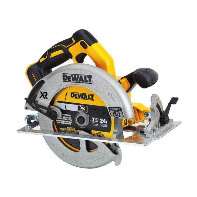 """The Best Circular Saw Option: DEWALT 20V 7 ¼"""" Circular Saw"""