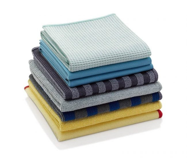 最好的微纤维布选项:电子布超纤维家用清洁(8件式套装)
