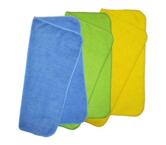最好的MicroFiber布选项:Polyte Microfiber清洁毛巾(36包)