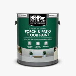 The Best Deck Paint Option: BEHR Premium Low-Lustre Enamel Porch Paint