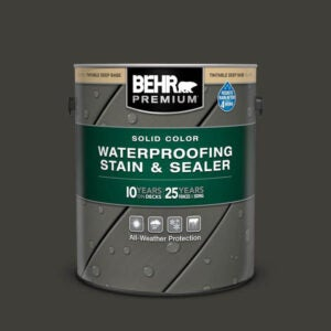 The Best Deck Paint Option: BEHR Premium Solid Color Waterproofing Wood Stain