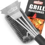 最好的烧烤刷选项:GRILTART不锈钢3合1烤架刷