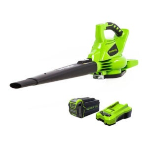 The Best Leaf Blower Option: Greenworks 40V Brushless Cordless Blower Vacuum