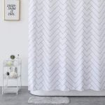 The Best Shower Curtain Option: Aimjerry Mold-Resistant Fabric Shower Curtain