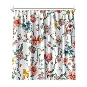 The Best Shower Curtain Option: MACOFE Flower Shower Curtain