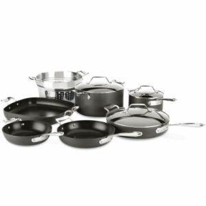 The Best Nonstick Cookware Option: All-Clad Essentials Nonstick Cookware Set, 10-Piece