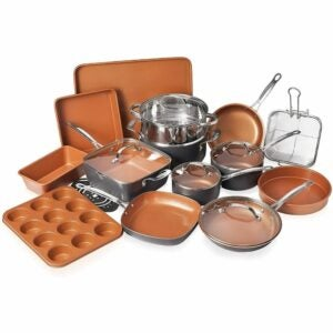 The Best Nonstick Cookware Option: Gotham Steel 20 Piece Cookware + Bakeware Set