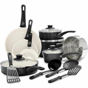 The Best Nonstick Cookware Option: GreenLife Ceramic Nonstick Cookware Set 16 Piece