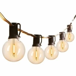 The Best Outdoor String Lights Option: Brightown G40 Outdoor String Lights 50FT