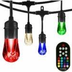 The Best Outdoor String Lights Option: Enbrighten 37790, LED Color Changing String Lights