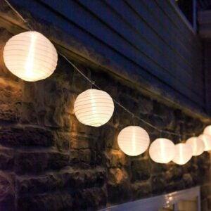 The Best Outdoor String Lights Option: LampLust Mini Lantern String Lights
