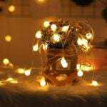 The Best Outdoor String Lights Option: OxyLED 2 Pack 100 LED Globe String Lights Battery