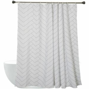 The Best Shower Curtain Option: Aimjerry Hotel Quality Striped Fabric Shower Curtain