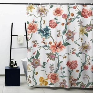 The Best Shower Curtain Option: MACOFE Fabric Decorative Floral Shower Curtain